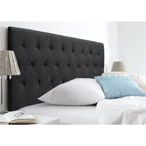grey linen headboard florence queen linen tufted headboard in dark grey buy