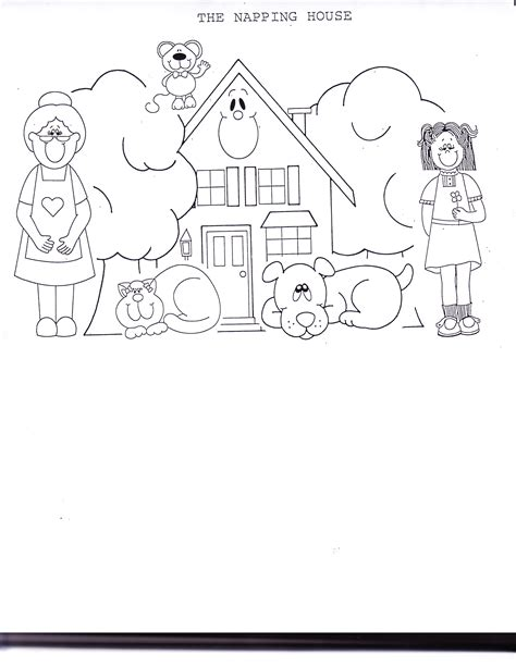 Kindergarten The Napping House Worksheet Kindergarten The Napping House Lesson Plans