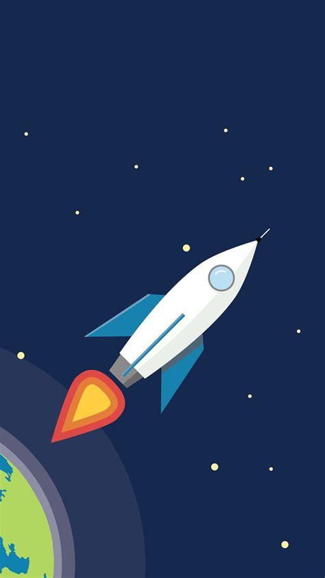 earth rocket minimalism wallpaper