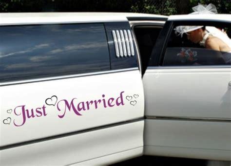 Autoaufkleber Abi 2016 by Autoaufkleber Hochzeit Just Married Mit Herzen M 2 Farbig