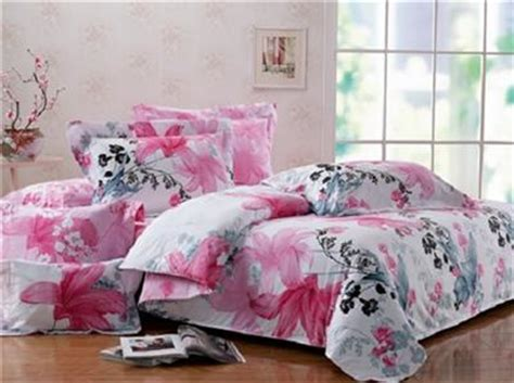 pink floral comforter set twin xl 100 cotton girls teen dorm pink black gray floral