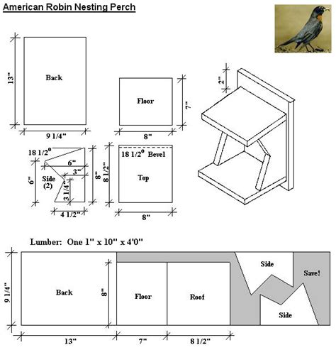 Bird House Plans For Robins Bird House Plans For Sparrows