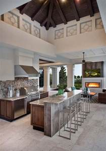 Kitchen Island Counter Height 20 spectacular outdoor kitchens with bars for entertaining