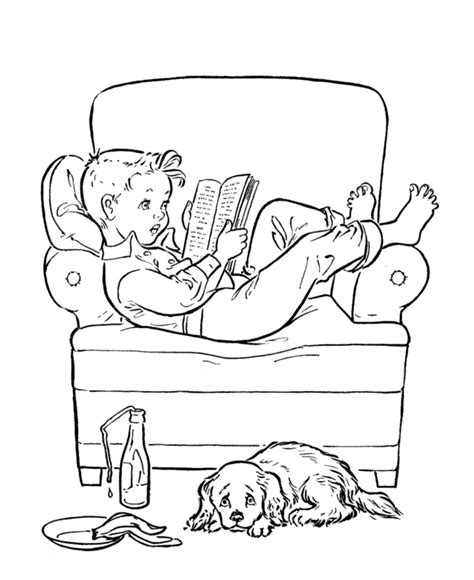 Reading Book Coloring Page Coloring Home Where To Get Coloring Books