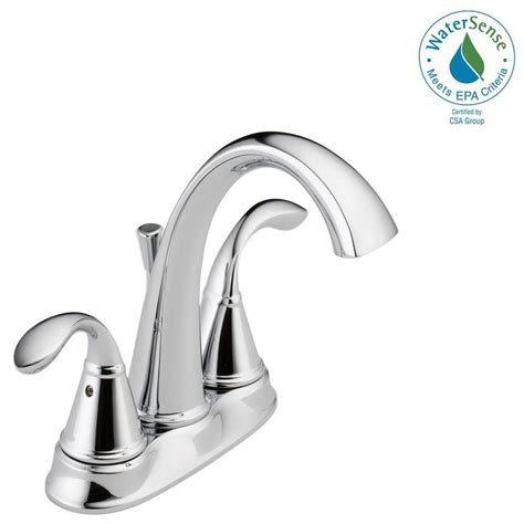 delta zella 4 in centerset 2handle bathroom faucet in