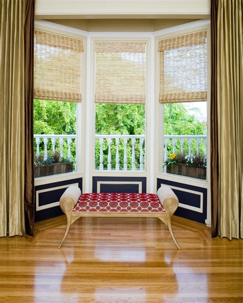 astonishing bay window treatments decorating ideas images