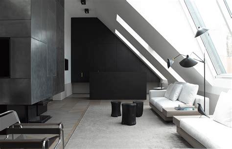 modern minimalist black and white lofts a modern loft conversion in vienna design milk