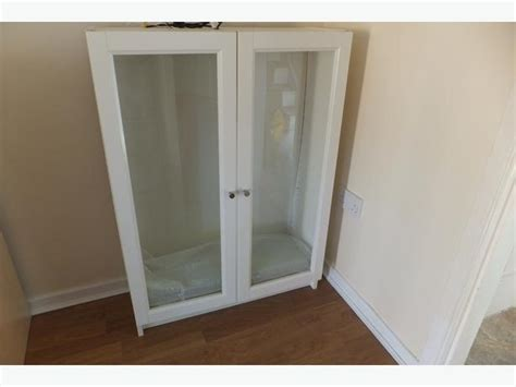 Ikea White Bookcase With Glass Doors Ikea Billy Bookcase With Glass Doors And Shelves Pelsall Wolverhton