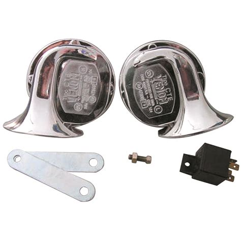 2 12 volt electric horn set