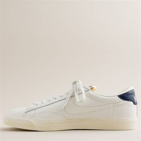 j crew nike 174 for j crew vintage collection leather tennis