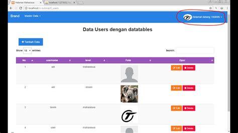codeigniter tutorial user login tutorial codeigniter part 7 menilkan nama dan foto user