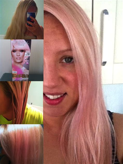 loreal pastel hair color amyindevon pink hair review of l oreal feria pastel