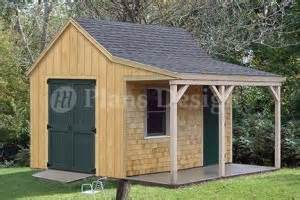 Shed Designs With Porch by 12 X 12 Cottage Shed With Porch Project Plans Design 81212