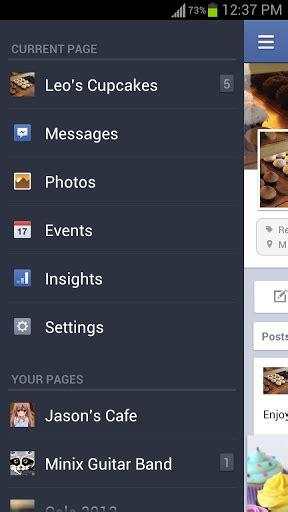 fb page manager apk android hd hvga qvga wvga pages manager android app