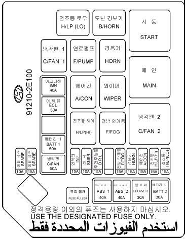 Hyundai Tucson: Fuse panel description - Do-it-yourself