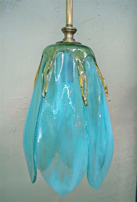 custom hand crafted fused glass pendant lights  sconces