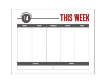 weekly schedule template monday friday printable monday through friday calendar calendar