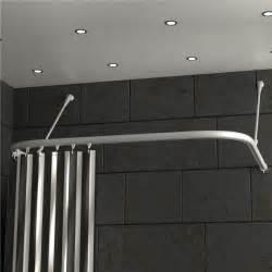 duschvorhangstange u form badewanne duschvorhangstange u form f 252 r wandmontage oder dachschr 228 ge
