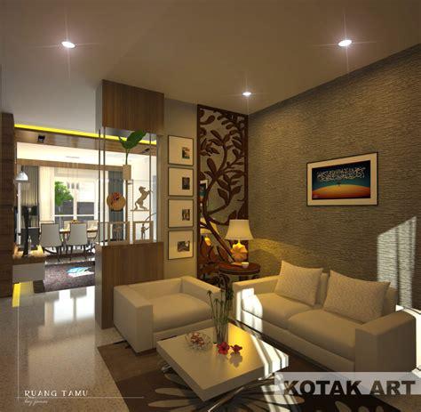 desain interior rumah vintage ruang tamu ruang keluarga dan ruang makan kotakinterior