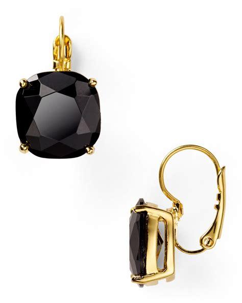 Kate Spade Earing 0oru1624 kate spade new york small square leverback earrings in black lyst