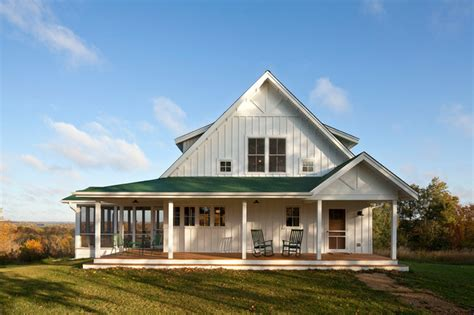 Building A Farmhouse | unique farmhouse for mid size family w porch hq plans pictures metal building homes