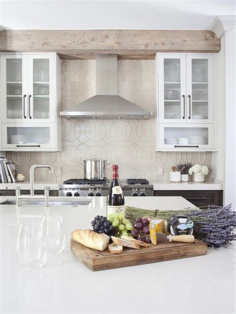 Pictures Of Kitchens With Backsplash - i like the rustic beam to hide the bulkhead i also like the styling of the island staged