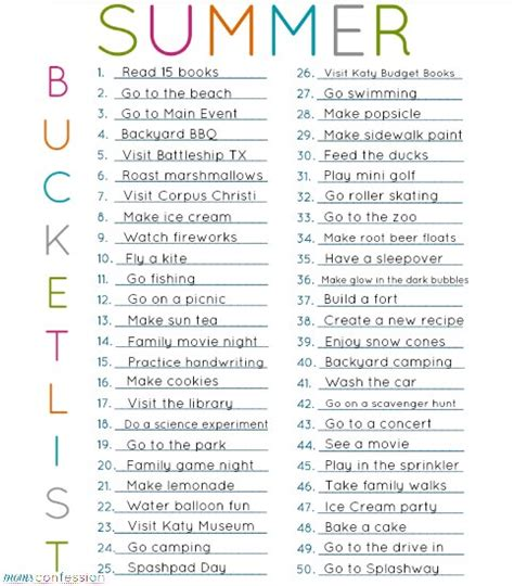 8 Hobbies You Can Start This Summer by 50 Ideas For Your Summer List Free Printable