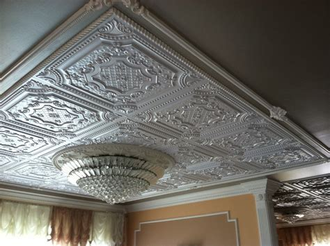 faux tin ceiling tiles spaces with ceiling chandelier
