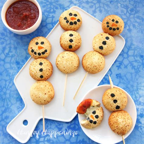 How To Make Chocolate Decorations At Home cheesy snowman snacks fun christmas appetizers