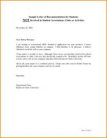 4 recommendation letter sle for student sle of