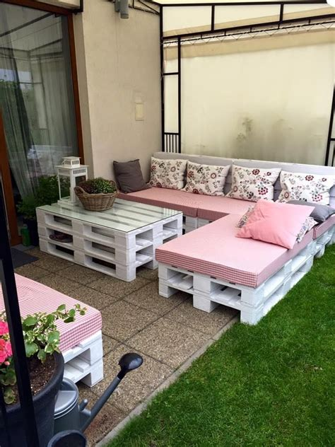 Skid Patio Furniture Dazzling Pallet Patio Seating Set 101 Pallet Ideas паллеты Pinterest Pallet Patio