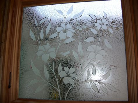 etched glass etched glass design by premier etched etched decorative glass window hibiscus flower hummingbird