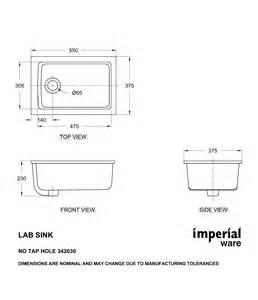 Standard Counter Height heirloom laboratory sink