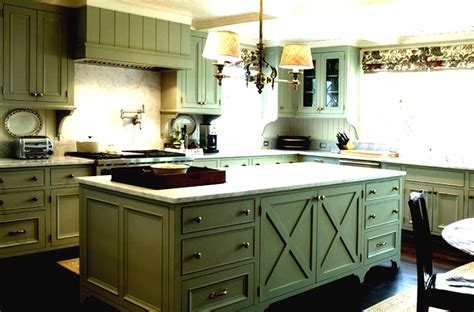 rustic green kitchen cabinets new option painting color green kitchen cabinets