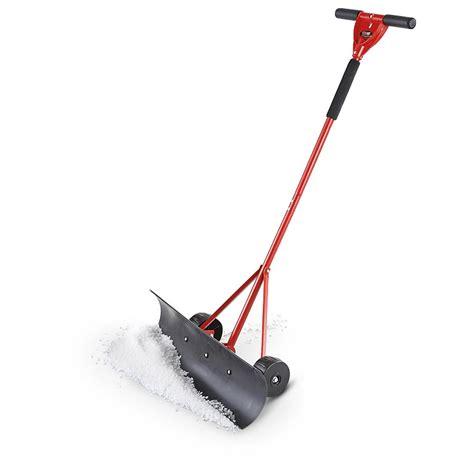 push blade grip 174 30 quot push blade wheeled snow shovel 233862 snow