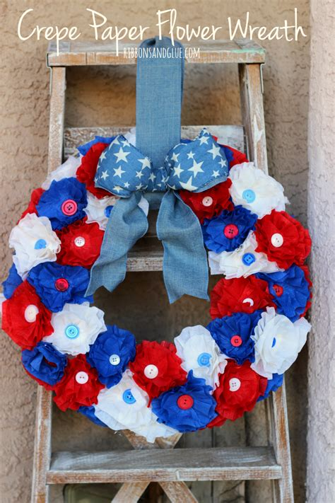 How To Make A Wreath With Paper - how to make a crepe paper flower wreath