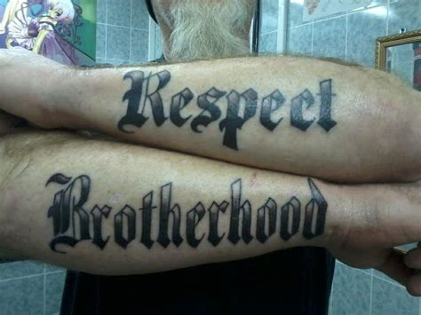 respect tattoo design brotherhood respect tattoos tattoos