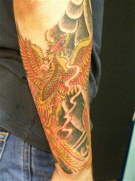 japanese phoenix tattoo half sleeve japanese phoenix half sleeve tattoo done heaven n