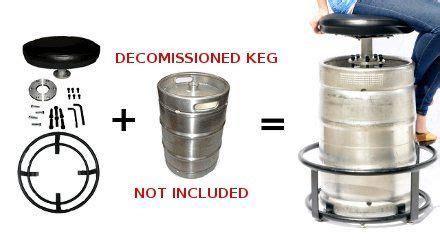 Keg Bar Stool Kit by Bar Keg Stool Metal Foot Rest Assembly Kit Stability