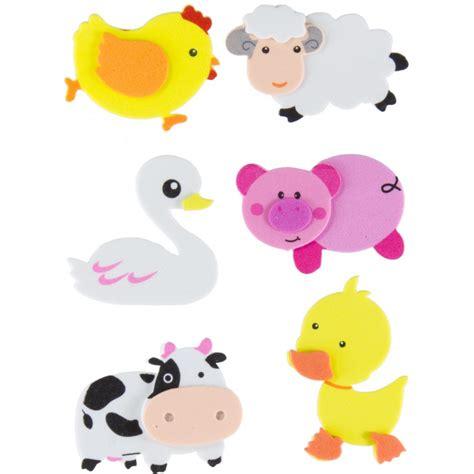 imagenes de animales infantiles en goma eva juego figuras goma eva adhesiva en 3d con animales de granja