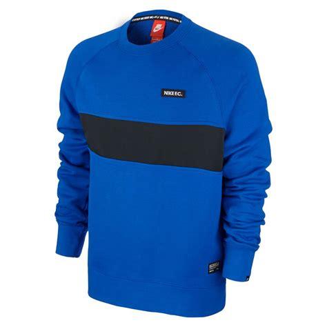 Sweater Nike Fc Blue Line nike fc sweater crewneck nike aw77 blue voetbalwinkel
