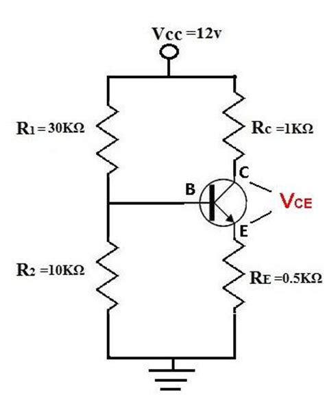 transistor vce how to calculate vce of a transistor