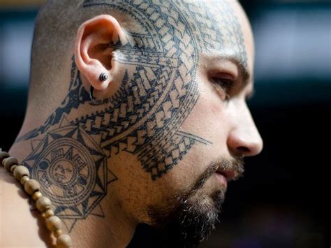 polynesian face tattoo designs 18 best images on