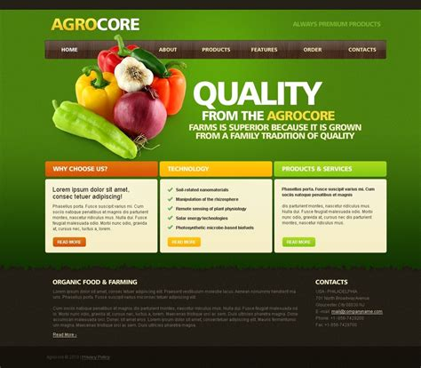 templates for it website vegetable website template web design templates website