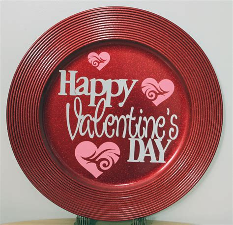 valentines day plates croatian crafter happy s day charger plate
