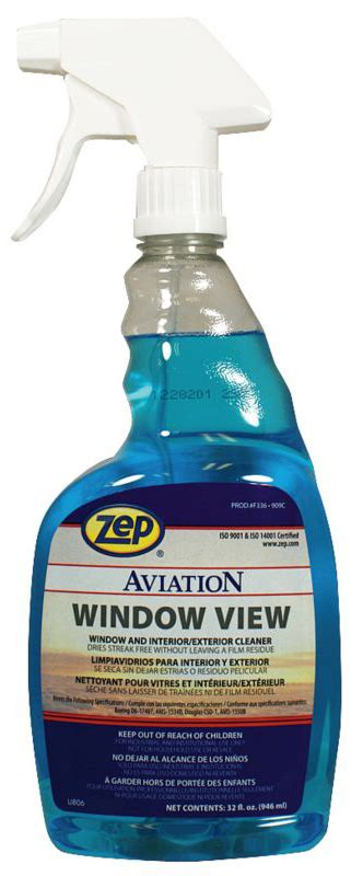 Zep Aviation Window View Msds - aircraft interior cleaners