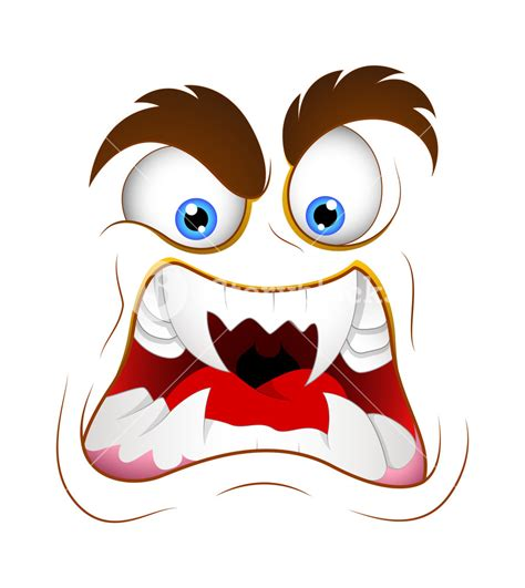expression cartoons illustrations vector stock images aggressive monster cartoon face expression vector