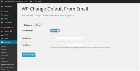 email wordpress wp change default from email wordpress plugins