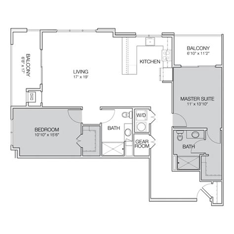 two bedroom two bath apartment floor plans two bedroom bath apartment floor plans