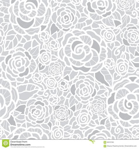 wedding pattern background vector vector gentle silver grey lace roses seamless repeat